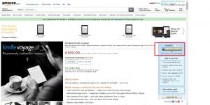 Amazon, web design, call to action button