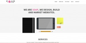 Soap Agency home page